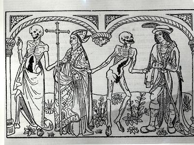 Death Taking the Bishop and the Nobleman, from the Danse Macabre, Published Paris, 1485-Guy Marchant-Giclee Print
