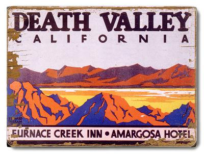 Death Valley California Furnace Creek Inn Amargosa--Wood Sign