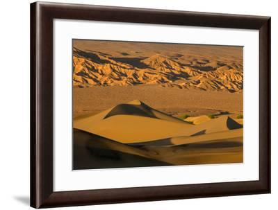 Death Valley National Park, California: Mesquite Sand Dunes Near Stovepipe Wells-Ian Shive-Framed Photographic Print