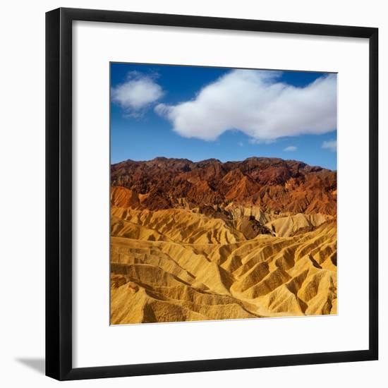 Death Valley National Park California Zabriskie Point-Lunamarina-Framed Photographic Print