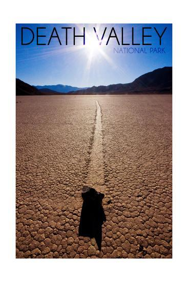 Death Valley National Park - Racetrack at Day-Lantern Press-Art Print