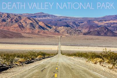 Death Valley National Park - Road-Lantern Press-Wall Mural