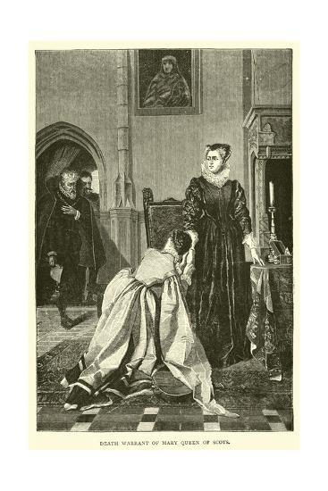 Death Warrant of Mary Queen of Scots--Giclee Print