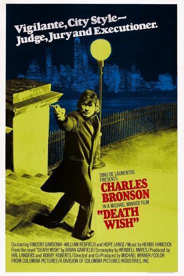 Death Wish, Charles Bronson, 1974--Art Print