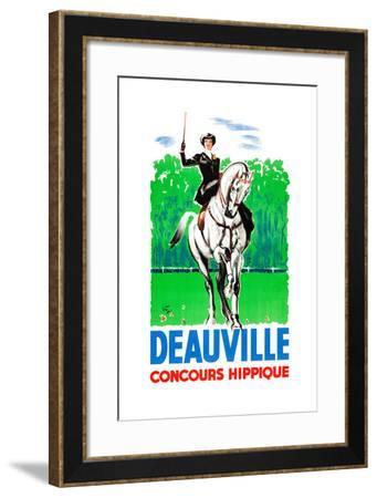 Deauville Concours Hippique--Framed Art Print