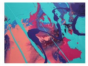 Aqua Splatters by Deb McNaughton