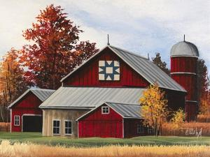Fall Barn by Debbi Wetzel