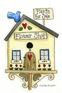 Flower Shop Birdhouse by Debbie McMaster