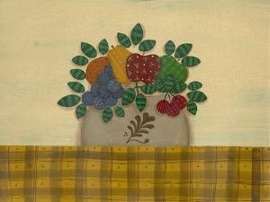 Fruit with Gold and Brown Tablecloth by Debbie McMaster