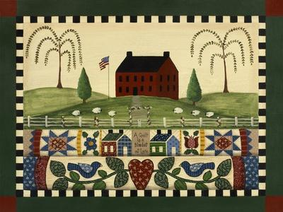 Red House with Quilts