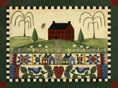 Red House with Quilts by Debbie McMaster