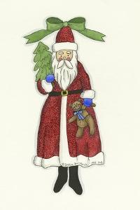 Santa with Bear and Tree by Debbie McMaster