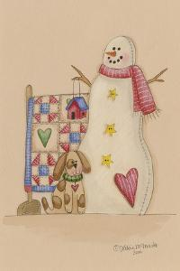 Snowman with Dog by Debbie McMaster