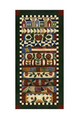 Stack of Quilts with Dark Green Border 2