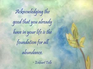 Acknowledging The Good by Debbie Pearson