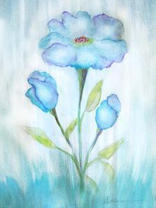Floral Blue 2 by Debbie Pearson