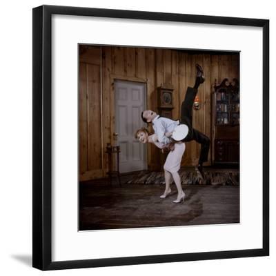 Debbie Reynolds Lifts Fellow Actor Tony Randall in a