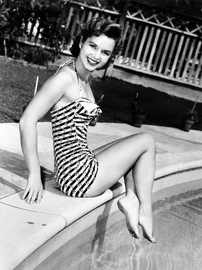 Debbie Reynolds Poolside, 1954--Photo