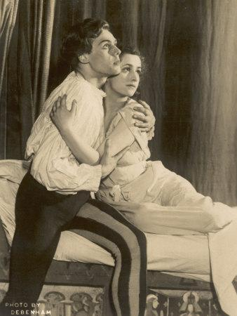 Marius Goring British Actor of Stage and Screen in the Role of Romeo with Peggy Ashcroft as Juliet
