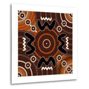 A Illustration Based On Aboriginal Style Of Dot Painting Depicting Difference by deboracilli