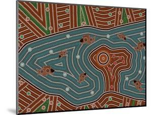 A Illustration Based On Aboriginal Style Of Dot Painting Depicting Magic Place by deboracilli