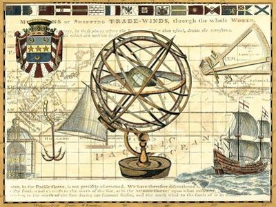 Nautical Map I by Deborah Bookman