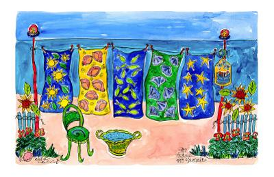 Beach Laundry by Deborah Cavenaugh