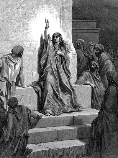 Deborah, Hebrew Prophetess and Judge, 1866-Gustave Dor?-Giclee Print