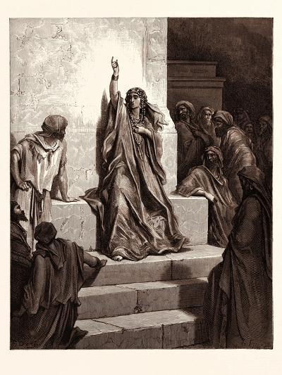 Deborah-Gustave Dore-Giclee Print
