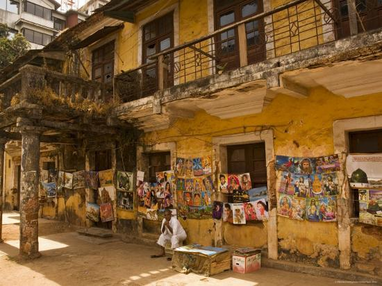 Decaying House in Panaji Formerly Known as Panjim, Goa, India-Robert Harding-Photographic Print