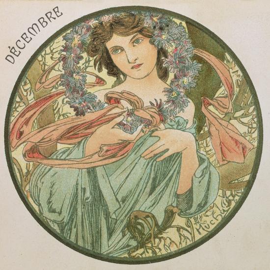 December, 1899 (Detail)-Alphonse Mucha-Giclee Print