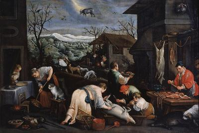 December (From the Series 'The Seasons), Late 16th or Early 17th Century-Leandro Bassano-Giclee Print