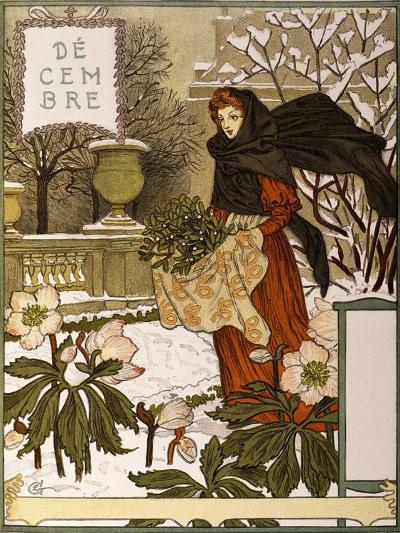December, Illustration from the Fine Art Portofolio 'Le Mois', 1896-Eugene Grasset-Giclee Print