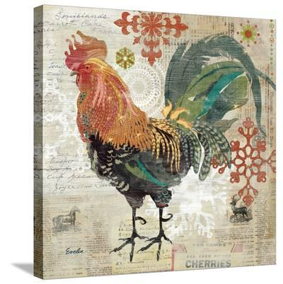 December Rooster--Stretched Canvas Print