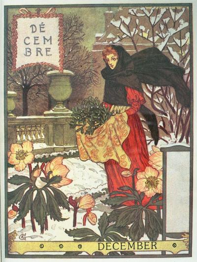 December-Eugene Grasset-Giclee Print