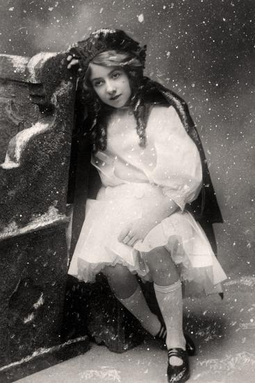 Decima Brooke in Little Red Riding Hood, 1907--Photographic Print