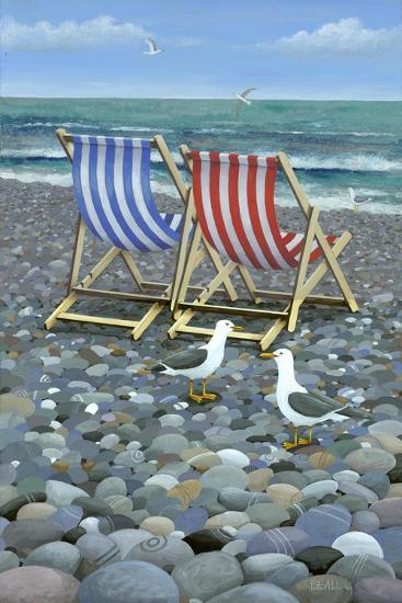Deck Chairs-Peter Adderley-Art Print