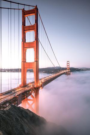 Deck Fog Arrives at Golden Gate Bridge, San Francisco-Vincent James-Photographic Print