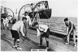 Deck Hockey on Board the Battleship HMS 'Nelson, 1937