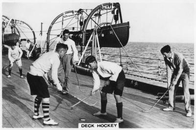Deck Hockey on Board the Battleship HMS 'Nelson, 1937--Giclee Print