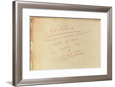 Deck Log for the Cable Ship SS Mackay-Bennett Relating to Recovery Operation in the Titanic Debris--Framed Giclee Print