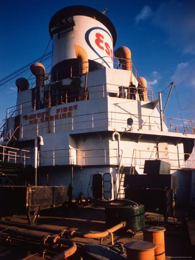 Deck of Esso Oil Tanker Little Rock, Docked at Sun Shipbuilding and Dry Dock Co. Shipyards-Dmitri Kessel-Photographic Print