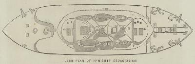 Deck Plan of Hm Ship Devastation--Giclee Print