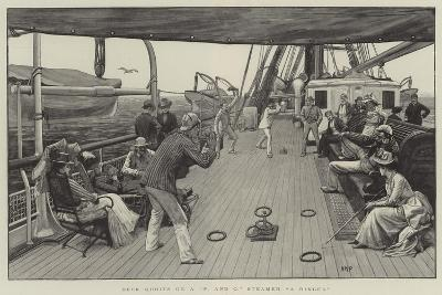 Deck Quoits on a P and O Steamer, A Ringer-Henry Marriott Paget-Giclee Print