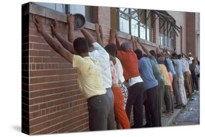 Africans American Lined Up Against Wall Being Arrested by Police after Race Riots in Detroit, 1967