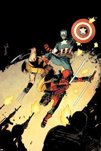 Deadpool #15 Cover: Deadpool, Wolverine, Captain America by Declan Shalvey