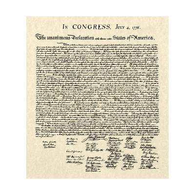 Declaration of Independence Doc.--Art Print