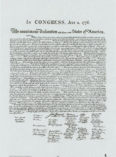 Soft image pertaining to printable declaration of independence