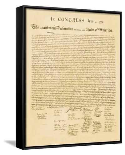 Declaration of Independence--Framed Canvas Print