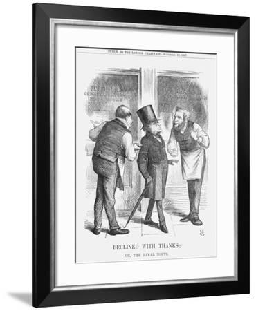 Declined with Thanks; or the Rival Touts, 1867-John Tenniel-Framed Giclee Print